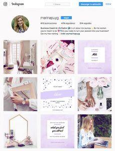 Cómo crear imágenes acorde a la identidad visual de tu marca para captar clientes en Instagram (Marina Puy)