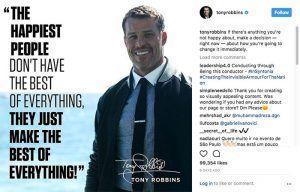 Cómo crear imágenes acorde a la identidad visual de tu marca para captar clientes en Instagram (Tony Robbins)